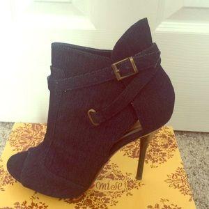 Shoes - Dark Denim Ankle Boots